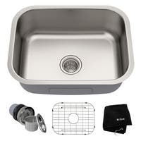 Kraus KBU12 Premier Undermount 23-inch 16 gauge Single Bowl Satin Stainless Steel Kitchen Sink