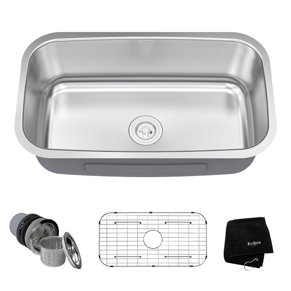 10 inch deep stainless steel kitchen sink kraus 31 inch undermount single bowl 16 stainless 9679