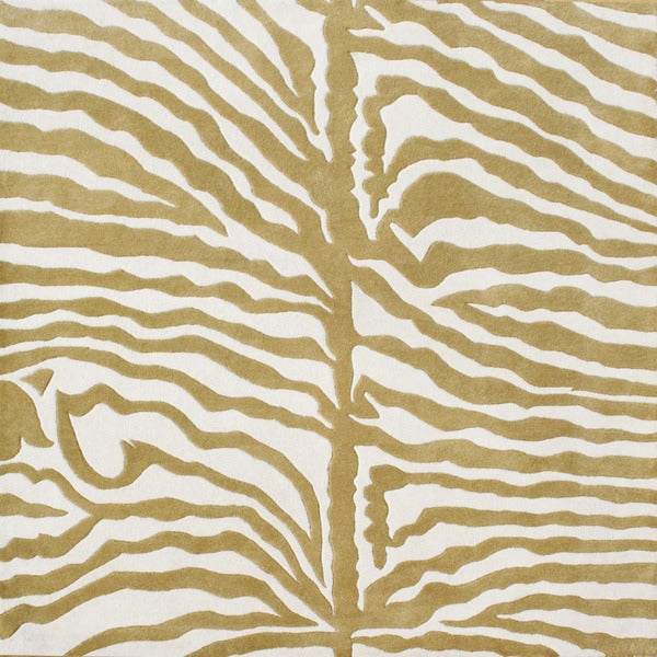 Alliyah Handmade Green New Zealand Blend Wool Rug (6' x 6')