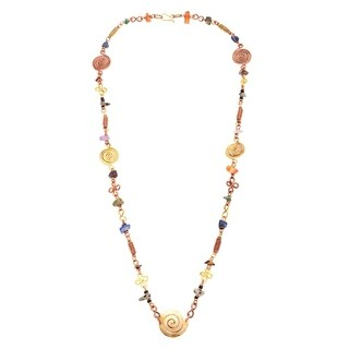 Handmade Stone Bead Delicate African Beauty Necklace (Kenya)