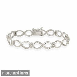 DB Designs Sterling Silver Diamond Accent Infinity Link Bracelet