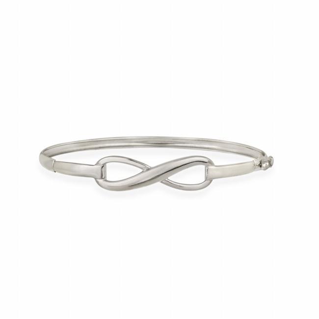 Mondevio Sterling Silver Infinity Bangle Bracelet