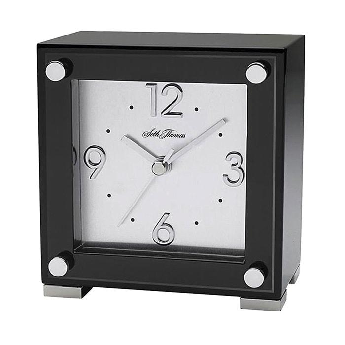 Seth Thomas 'Oblique' Black Plastic Electric Alarm Clock