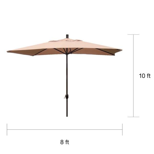Premium 10u0027 Rectangular Patio Umbrella   Free Shipping Today    Overstock.com   12930968