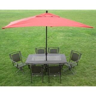 Premium 10-foot Rectangular Patio Umbrella with Stand