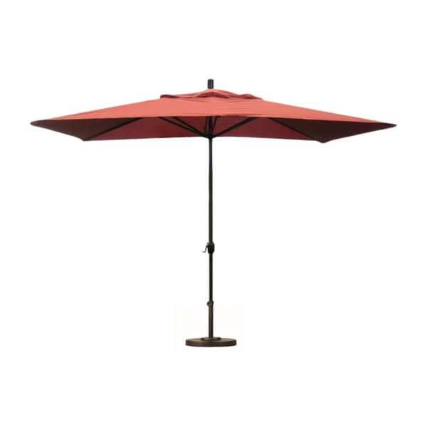 Premium 10 Foot Rectangular Patio Umbrella With Stand