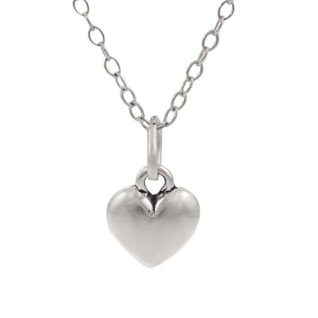 Journee Collection  Sterling Silver Children's Heart Necklace