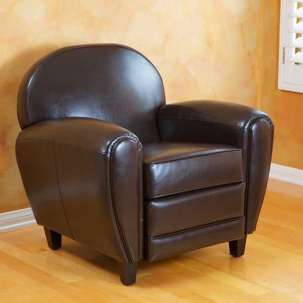 David Brown Bonded Leather Club Chair by Christopher Knight Home