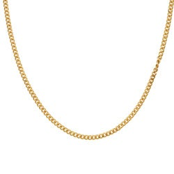 Sterling Essentials 14K Gold over Silver 24-inch Curb Chain (1.25 mm)