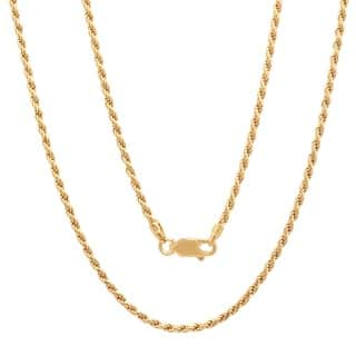 Sterling Essentials 14K Gold over Silver 2mm Diamond-cut Rope Chain (16-30 inch) (Option: 16 Inch)|https://ak1.ostkcdn.com/images/products/5072338/P12931687.jpg?impolicy=medium