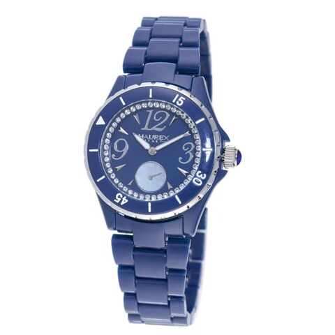 Haurex Italy Women's 'Make Up' Blue Piastceamic Watch