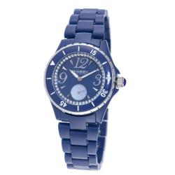 Haurex Italy Women's 'Make Up' Blue Piastceamic Watch