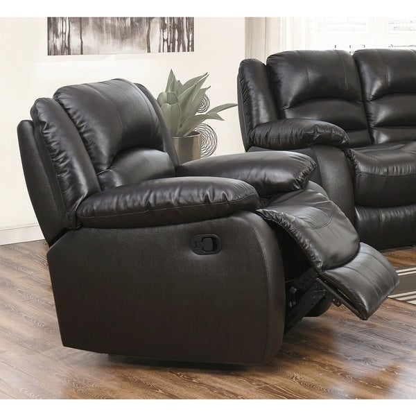 Abbyson Brownstone Top Grain Leather Reclining Armchair - Free Shipping Today - Overstock.com - 12931796 & Abbyson Brownstone Top Grain Leather Reclining Armchair - Free ... islam-shia.org