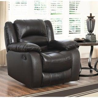 Abbyson Brownstone Top Grain Leather Reclining Armchair