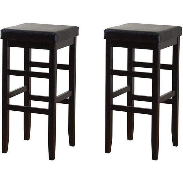 Hutto 24-inch Counter Height Square Stools (Set of 2)