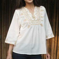 Handmade Women's Cotton 'Dance' Blouse (Thailand)