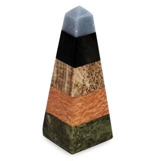 Gemstone 'Life Force' Obelisk , Handmade in Peru