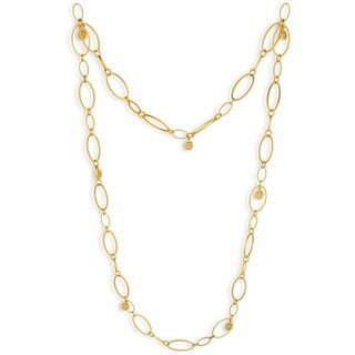 NEXTE Jewelry Goldtone Clear Cubic Zirconia Station Oval Link Necklace