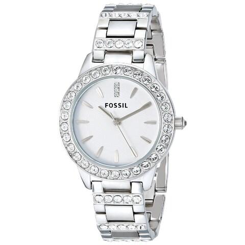 Fossil Women's 'Glitz' Crystal Stainless Steel Watch