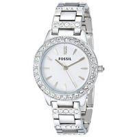 Fossil Women's ES2362 'Glitz' Crystal Stainless Steel Watch
