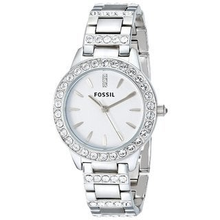 Fossil Women's 'Glitz' Crystal Stainless Steel Watch