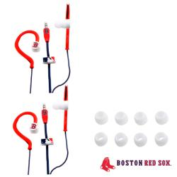 Nemo Digital MLB Boston Red Sox Jogger Earphones (Case of 2)