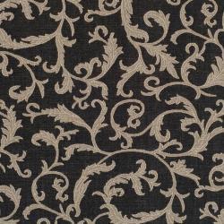 Safavieh Mayaguana Black/ Sand Indoor/ Outdoor Rug (6' 7 Square) - Thumbnail 2