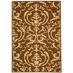 Safavieh Bimini Damask Chocolate/ Natural Indoor/ Outdoor Rug (4' x 5'7)