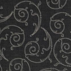 Safavieh Oasis Scrollwork Black/ Sand Indoor/ Outdoor Rug (6' 7 Square) - Thumbnail 2
