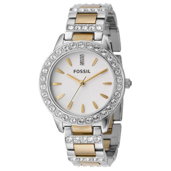 Fossil Women's 'Jesse' Crystal Two-tone Watch