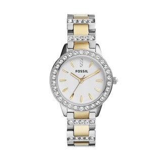 Fossil Women's 'Jesse' Crystal Two-tone Watch