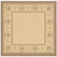 """Safavieh Royal Natural/ Brown Indoor/ Outdoor Rug - 7'10"""" x 7'10"""" square"""