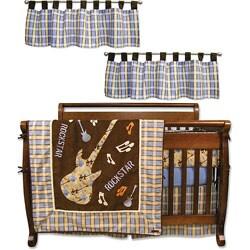 Trend Lab Rockstar Organic 6-Piece Crib Bedding Set - Thumbnail 1