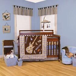 Shop Trend Lab Rockstar Organic 6 Piece Crib Bedding Set