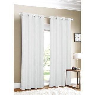 Luxury White Linen Curtain Panel - Free Shipping Today - Overstock ...