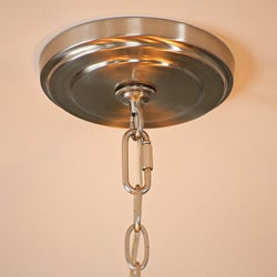 "31"" Diameter 6-light Nickel Chandelier - Thumbnail 2"