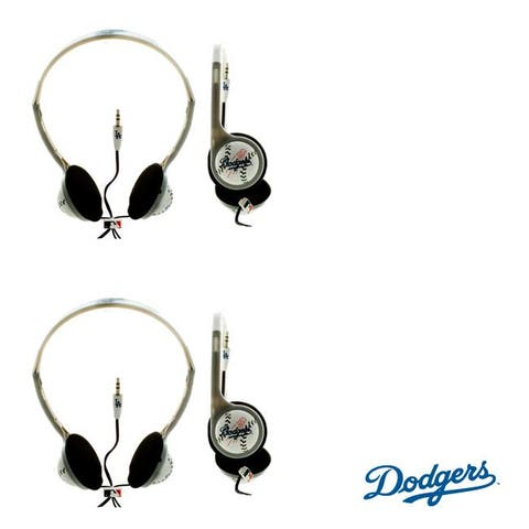 Nemo Digital Over-the-Head MLB Los Angeles Dodgers Overhead Headphones (Case of Two)