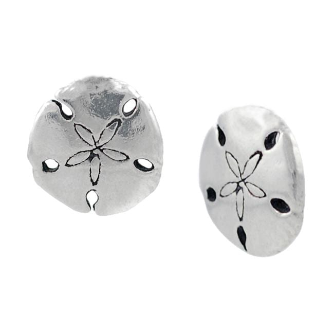 Journee Collection Sterling Silver Sand Dollar Stud Earrings