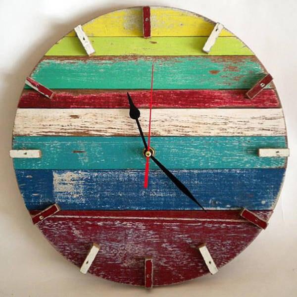 Handmade Beach House Retro Wall Clock (Thailand)