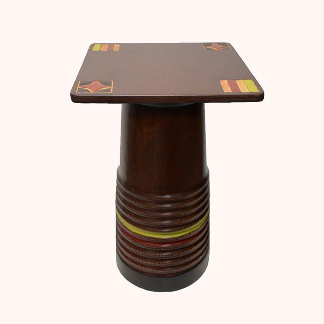Hand-finished Pillar Stool and Pedestal (Ghana)