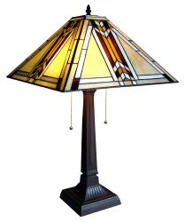 Tiffany-style Mission Table Lamp - Thumbnail 1