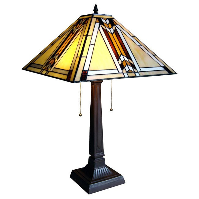 Shop Tiffany Style Mission Table Lamp Free Shipping