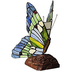 Tiffany-style Butterfly Bronze Table Lamp