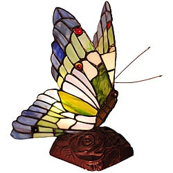 Tiffany-style Butterfly Bronze Table Lamp - Free Shipping Today ...