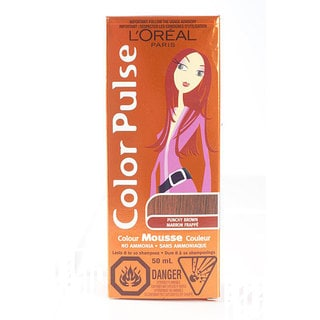 L'Oreal Color Pulse Punchy Brown Color Mousse (Pack of 4)