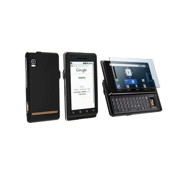 INSTEN Phone Case Cover and Screen Protector for Motorola Droid