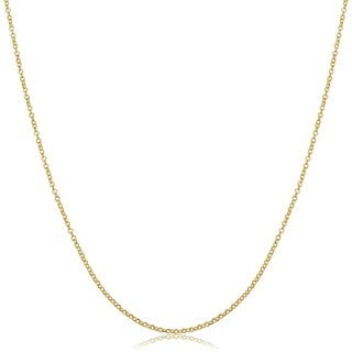 Fremada 18k Yellow Gold Rolo Chain Necklace (1mm, 18 inches)