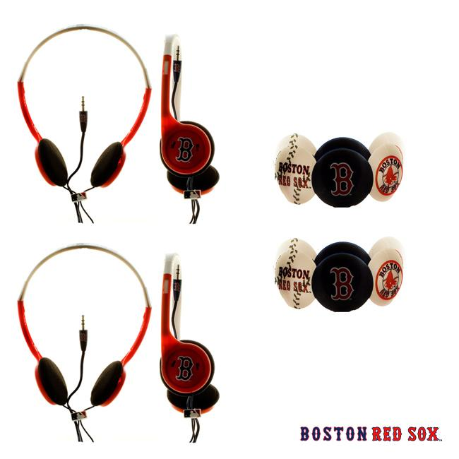 Nemo Digital MLB Boston Red Sox Headphones (Case of 2)