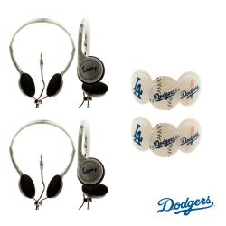 Nemo Digital MLB Los Angeles Dodgers Headphones (Case of 2)