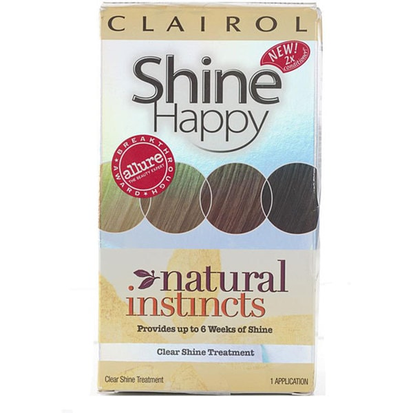 Clairol Natural Instincts Shine Happy Clear Shine Treatments (Pack of 4)